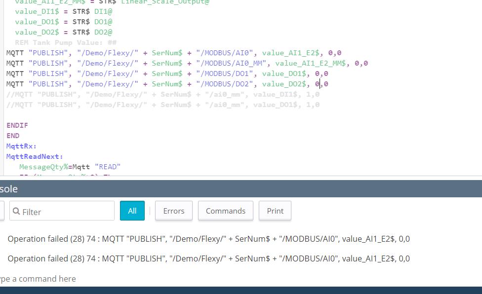 Publish MQTT Error - eWON Flexy - hms how