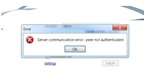peer not authenticated